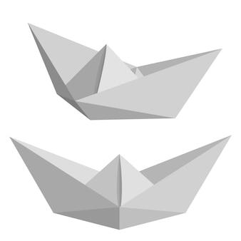 Set van papier schepen