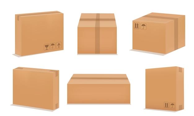Set van papieren dozen