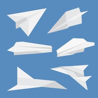 Set van papieren vlakken