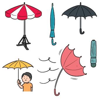Set van paraplu