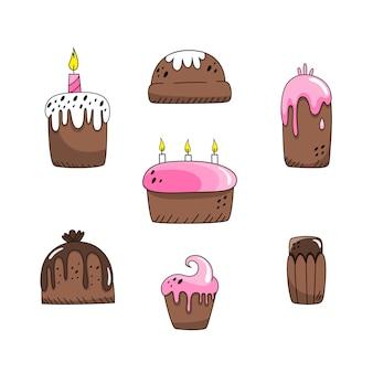 Set van pasen-cakes