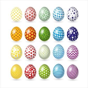 Set van pasen kleur eieren geïsoleerd