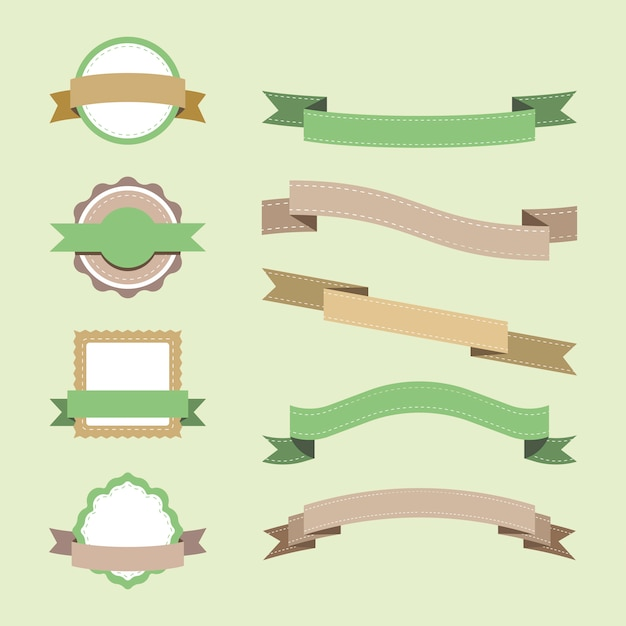 Set van pastel badge ontwerp