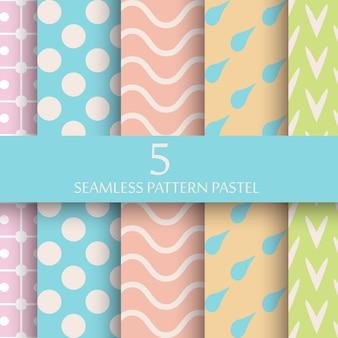 Set van pastel naadloze patroon behang