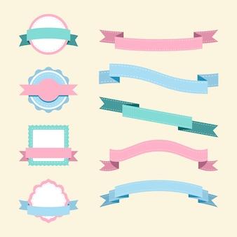 Set van pastel ontwerp vectoren
