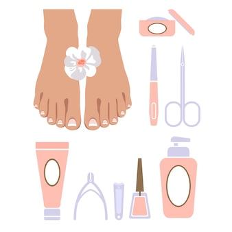 Set van pedicure tool