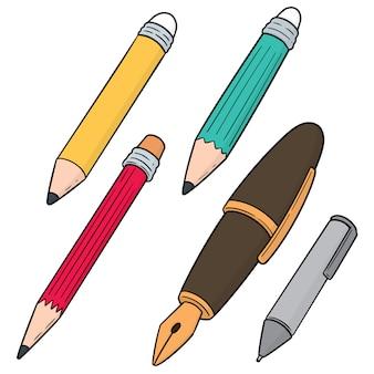 Set van pen en potlood
