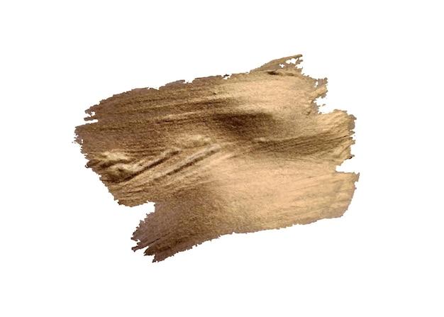 Set van penseelstreken grunge ontwerpelementen gouden verf inkt borstels lijnen grungy vuile artistieke dozen frames gouden lijnen geïsoleerd abstract goud glinsterende getextureerde kunst illustratie vector