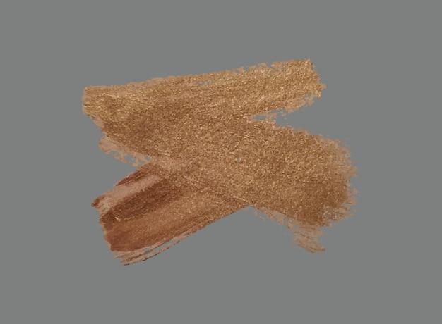 Set van penseelstreken grunge ontwerpelementen realistische gouden verf inkt penselen lijnen grungy