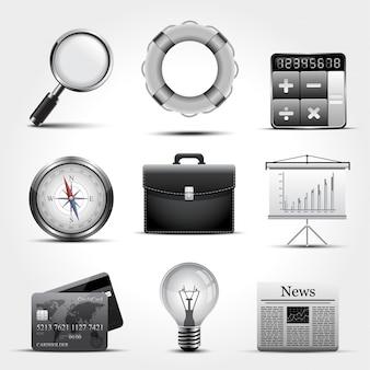 Set van pictogrammen bedrijfs.