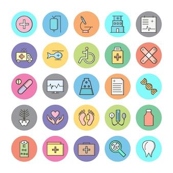 Set van pictogrammen met medische thema