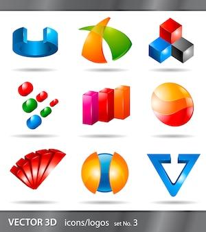 Set van pictogrammen of logo's