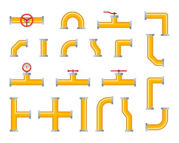 Set van pijpleidingen