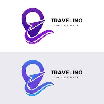 Set van pin logo ontwerpsjabloon