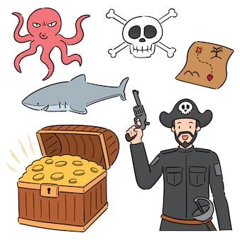 Set van piraat