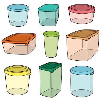 Set van plastic container