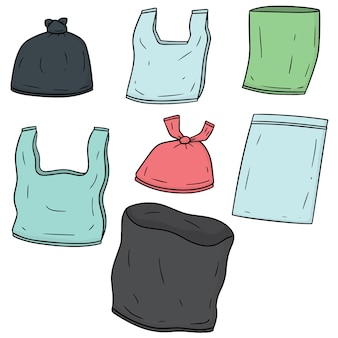 Set van plastic zak
