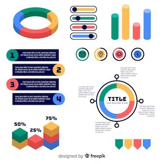 Set van platte infographic elementen