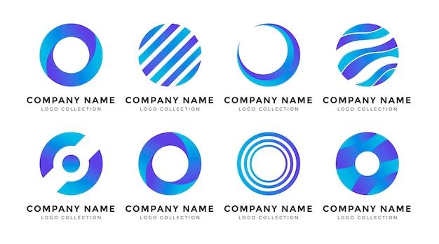 Set van platte o logo sjablonen