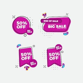 Set van platte ontwerp verkoop stickers