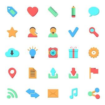 Set van platte web iconen