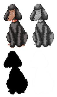 Set van poedel karakter