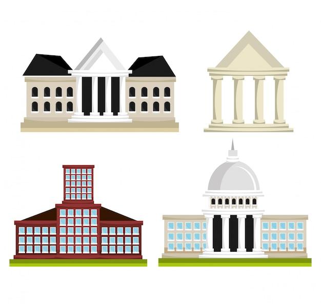 Set van politicus-architectuur