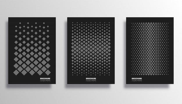Set van poster met rhombus