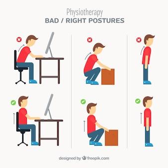 Set van posturale correcties