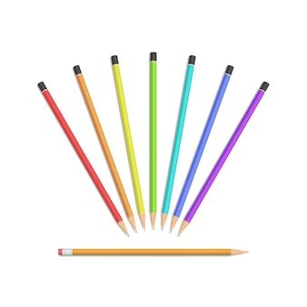 Set van potloden geïsoleerd