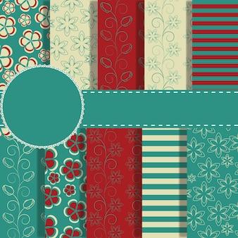 Set van prachtig vectorpapier voor plakboek