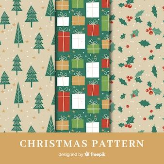 Set van prachtige kerst patronen