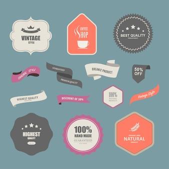 Set van premium label voor ontwerp vintage stijl