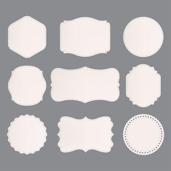 Set van premium label voor vintage stijl