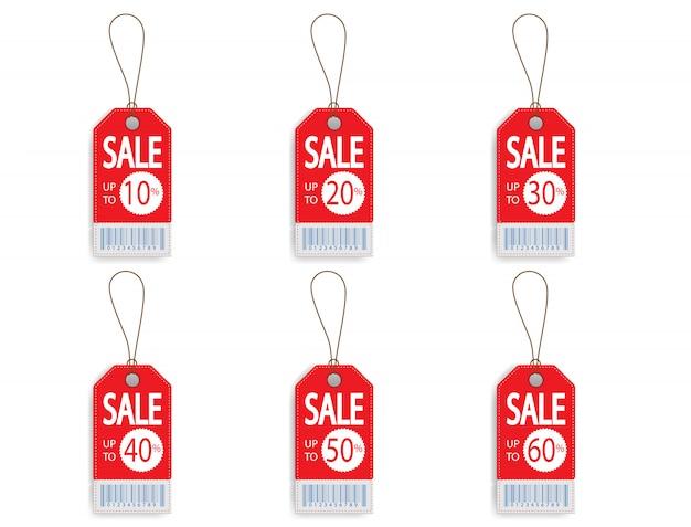 Set van prijs korting verkoop label label