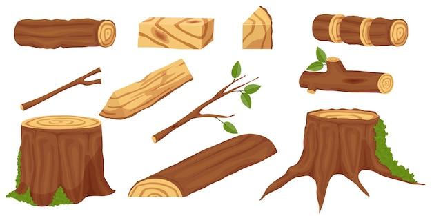 Set van productie van houten