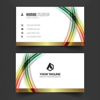 Set van professionele unieke visitekaartje