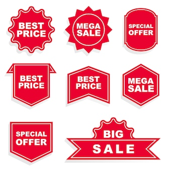 Set van promotie badge vectoren