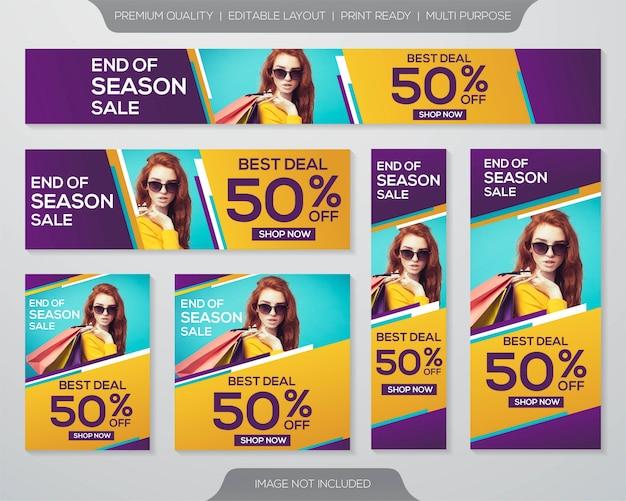 Set van promotie verkoop bannerontwerp
