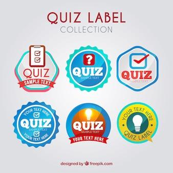Set van quiz stickers