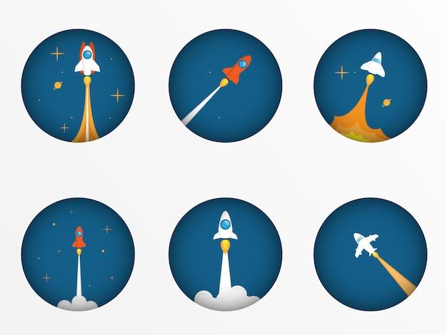 Set van raketlancering