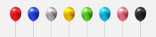 Set van realistische ballonnen vector. veelkleurig,