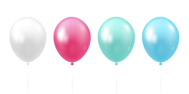 Set van realistische ballonnen. Premium Vector