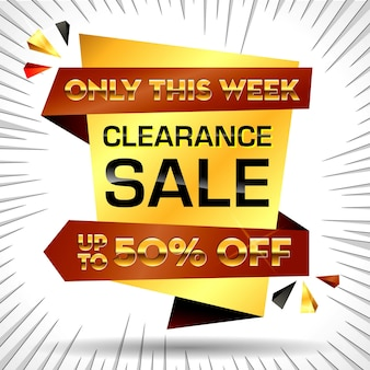 Set van realistische grote verkoopbanner of bannersjabloon speciale aanbieding of zwarte vrijdag kortingsbanner