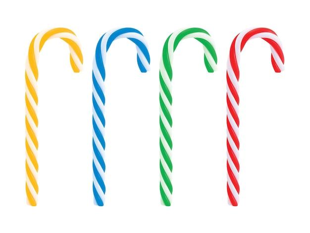 Set van realistische kerst candy cane.