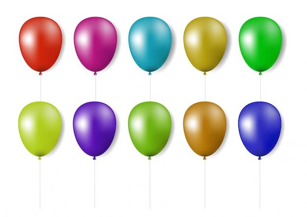 Set van realistische kleurrijke ballonnen.