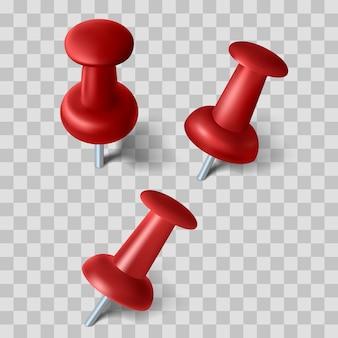 Set van realistische pin met schaduw, illustratie