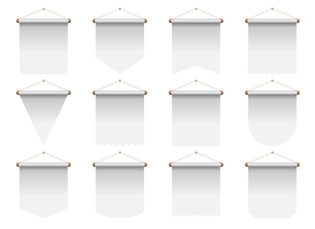 Set van realistische wimpelillustratie