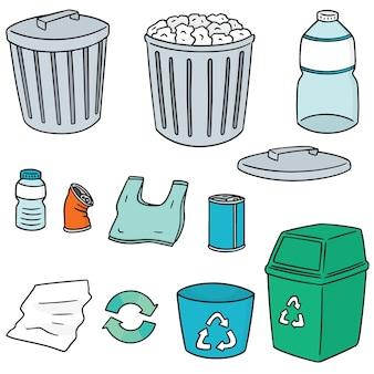 Set van recycle vuilnis