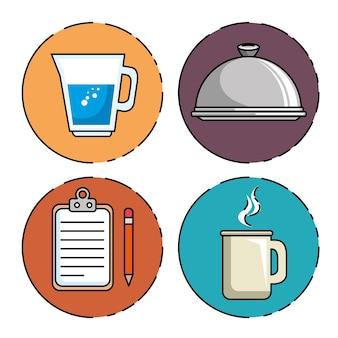 Set van restaurant pictogram